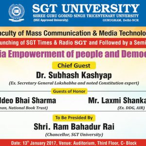 Seminar on Media Empowerment of people and Democracy