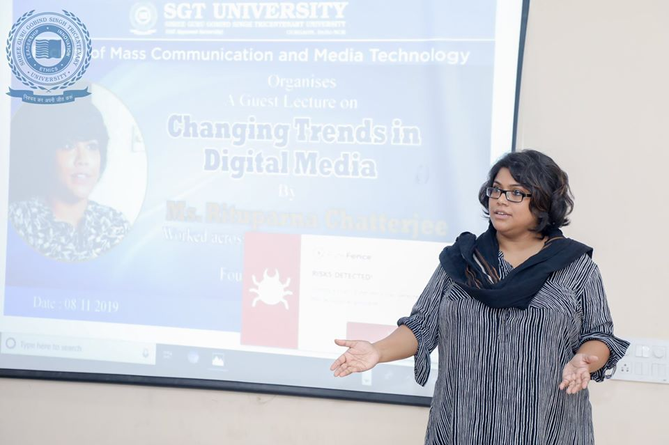 Guest lecture on 'Changing Trends in Digital Media'
